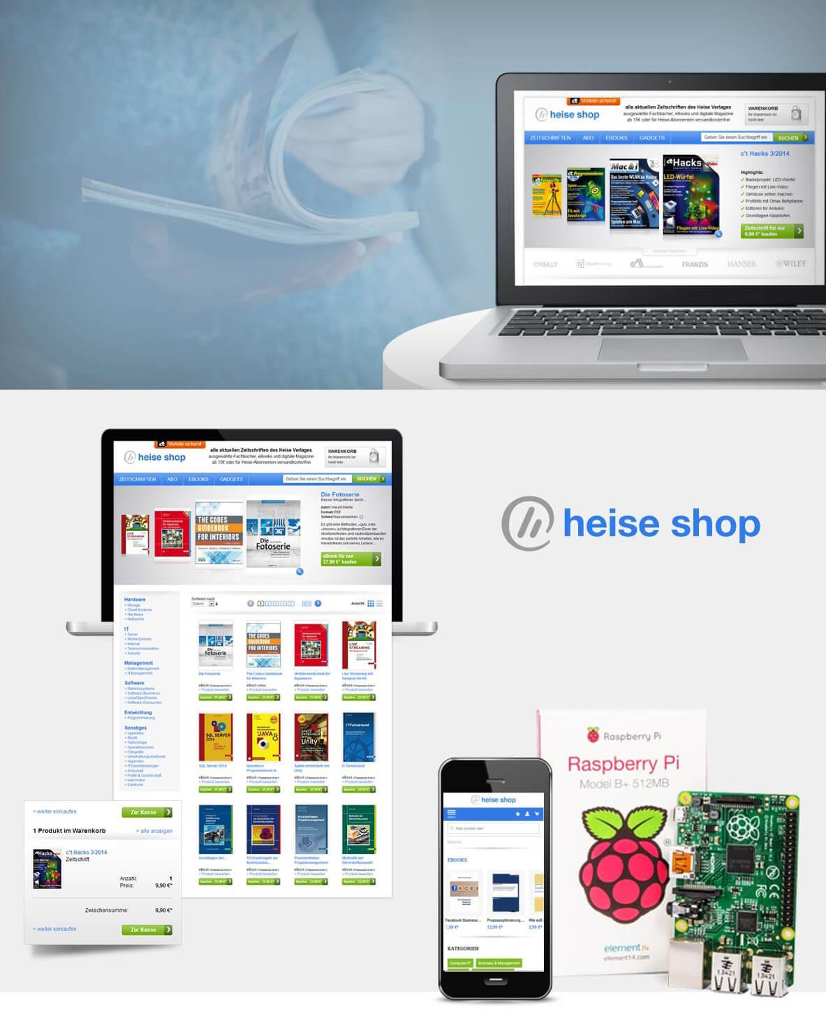 heise shop Shopsystem Magento | Referenz igniti GmbH