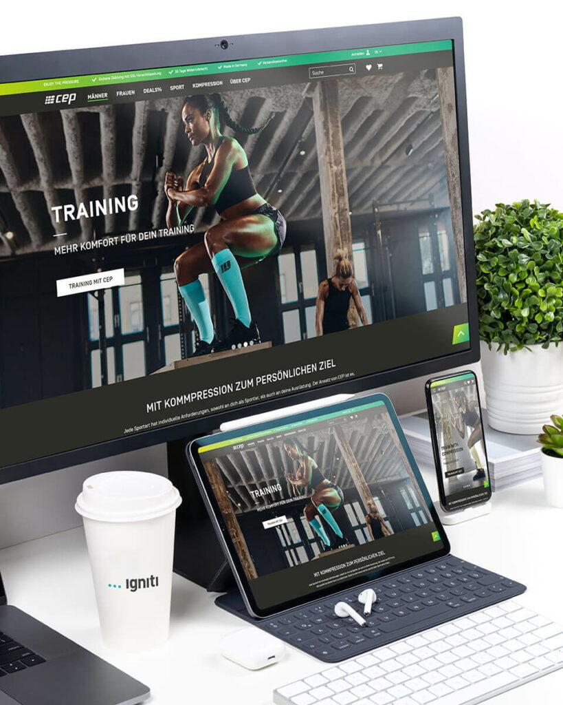B2C E-Commerce Onlineshop für CEP Sports