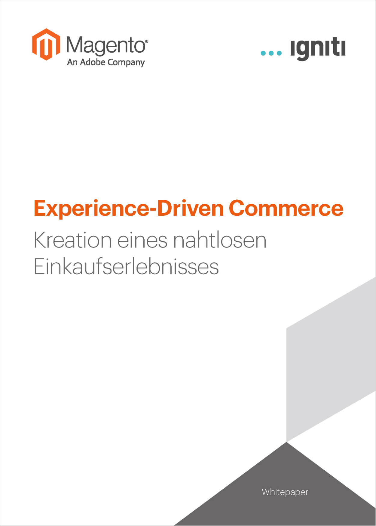 Whitepaper Experience Driven Commerce Magento | igniti