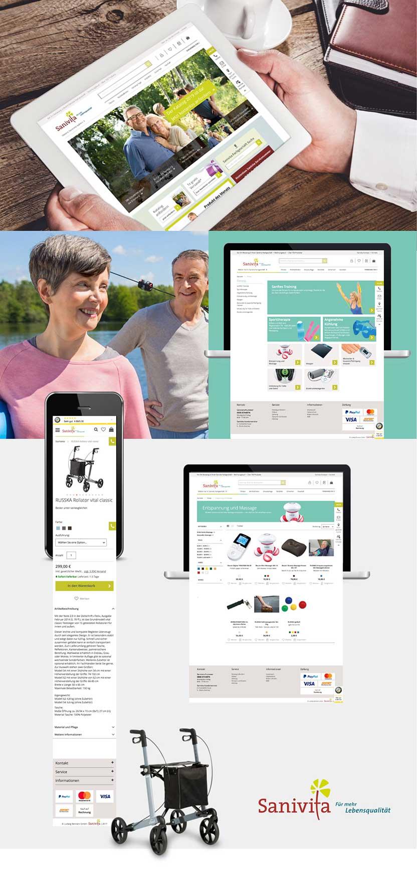 Unsere Referenz Sanivita - Magento Online-Shop des medizinischen Fachhandels