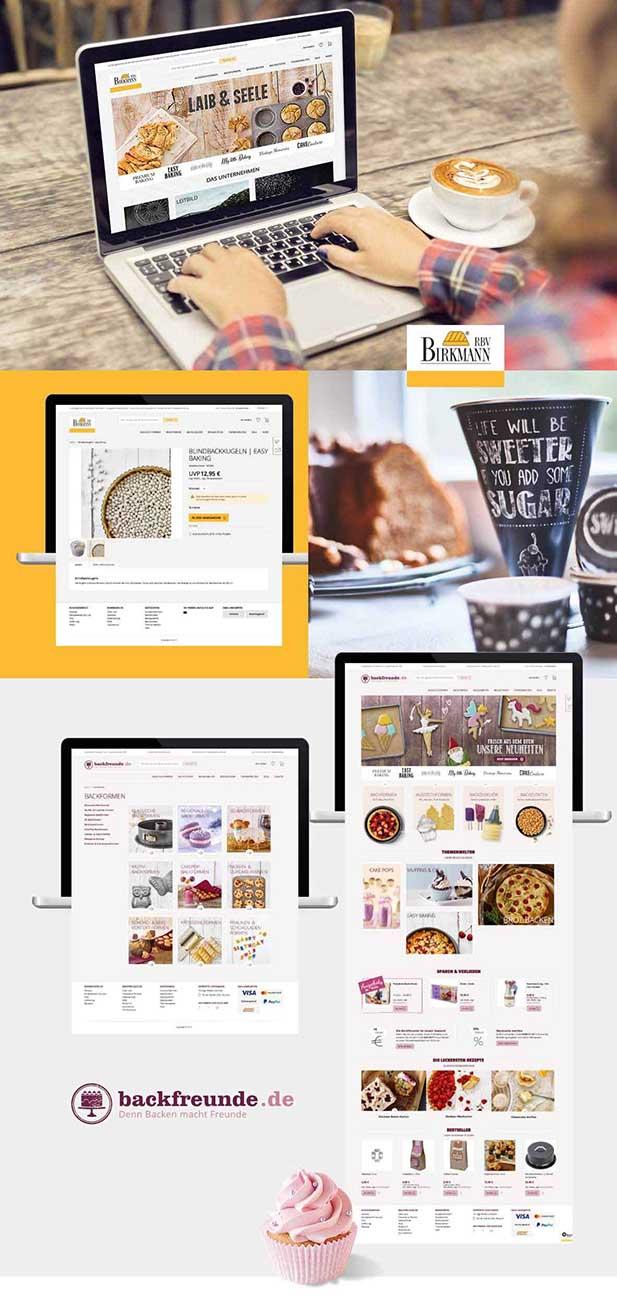 B2B Onlineshop für Backfreunde.de und B2B Shop für RBV Birkmann