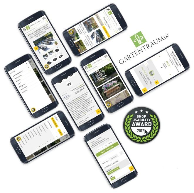 UI Design Agentur für den E-Commerce Shop Gartentraum