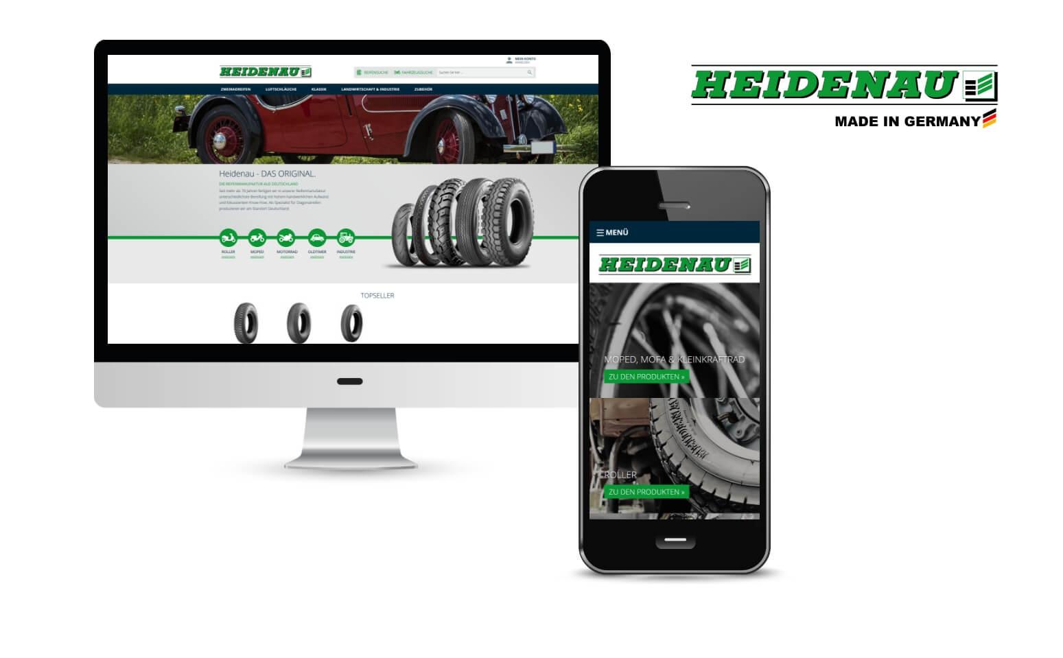 B2B Onlineshop Reifenwerk Heidenau