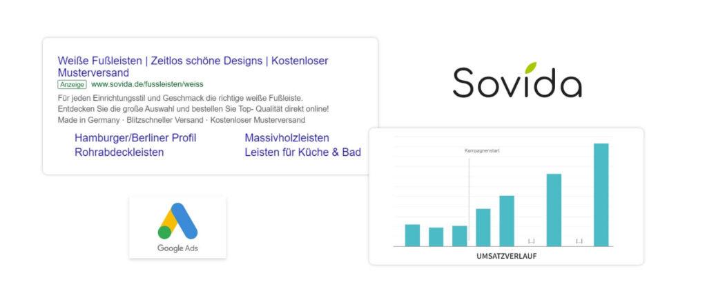 Google Ads Kampagne für den Shopware Shop von Sovida